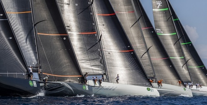 Crowning winners at Maxi Yacht Rolex Cup