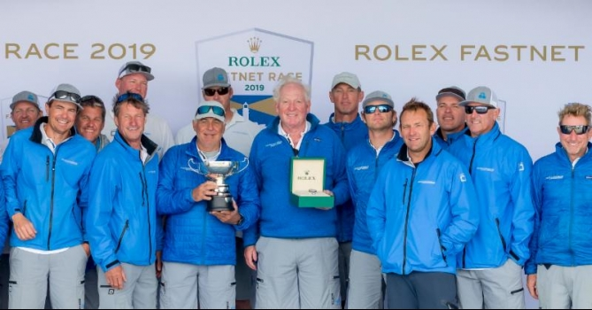 Rolex Fastnet Race 2019. Rambler 88 claims third consecutive monohull line honours